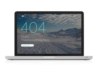 Daily UI 008 - 404 Page snow web error design 404 interface ui daily ui
