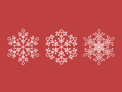 Snowflakes geometry illustration snowflakes winter snow holiday