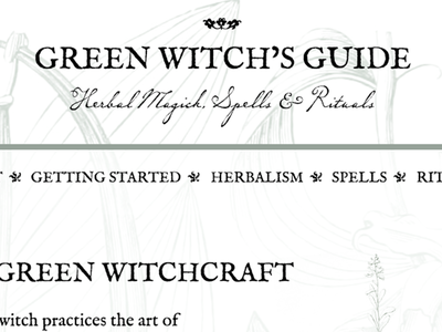 Green Witch's Guide web design wicca witch web website