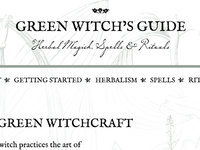 Green Witch's Guide