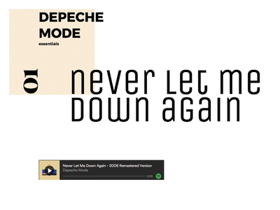 CSS Grid Experiments depeche mode web typography experiments layout css css grid
