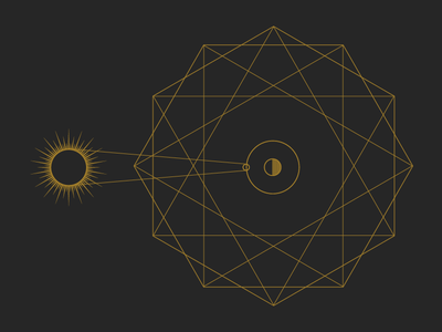 Geometric Sun geometric illustration demo astrology sun geometry