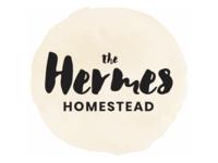 The Hermes Homestead logotype brush script hand lettering typogaphy blog logo