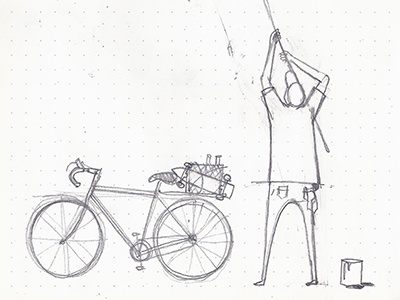 Painter escritor pintor ilustracion patineta bicicleta illustration pencil cruiser bicycle painter cool painter