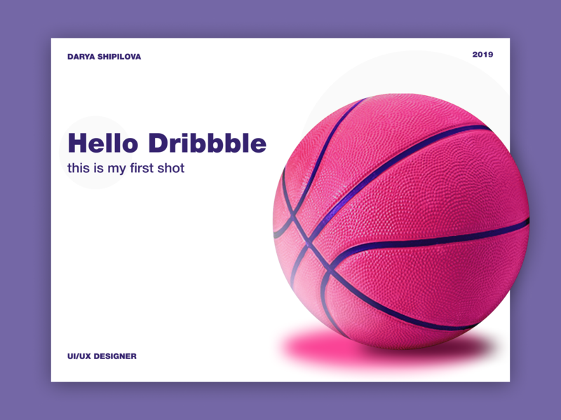 Hello Dribbble minimal website typography vector web design