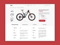 Bike shop. Product Card