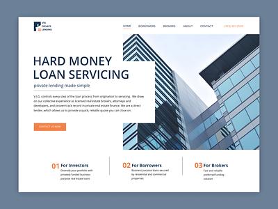 Loan Servicing house arhitecture website california figma graphic design mony ui ux loan web design