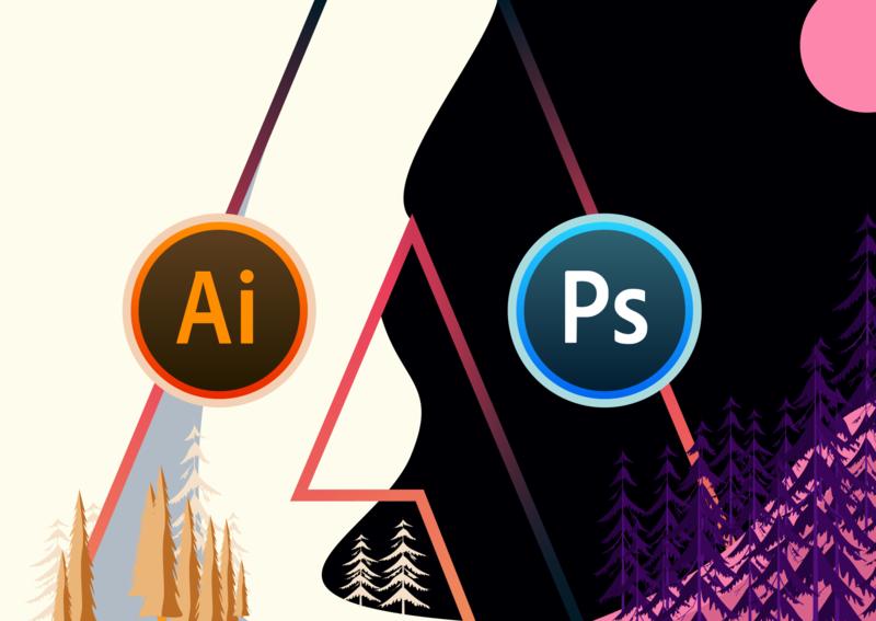 ReShaped Icons soup white black trees adobe blue orange icons ps ai rounded flat illustration