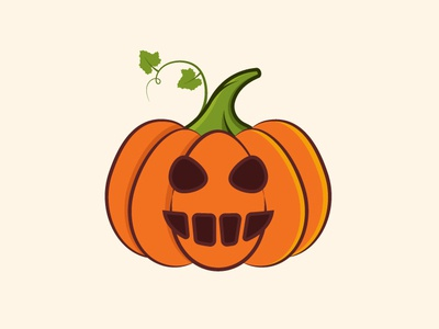 Halloween Pumpkin spookey vector ilustration plant halloween pumpkin