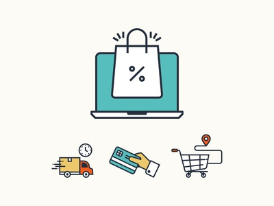 Shopping Icon $$ Premium icon sets are  available filledline iconset icon line vector hand atm clock time van delivery mall location shopping cart online shopping bag