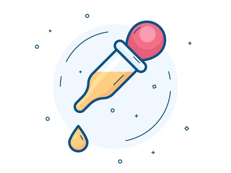 Colour picker icon set illustration vector filled line icon icon droper