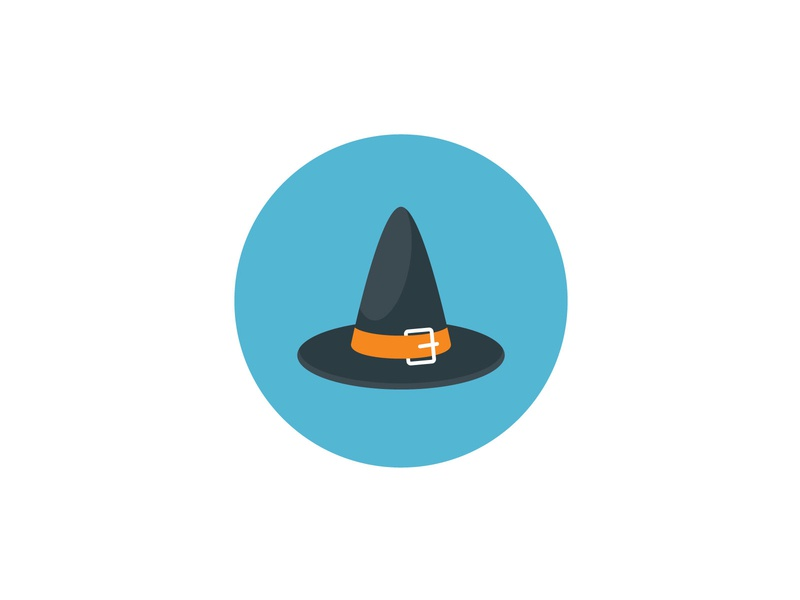 Witch hat Icon halloween funny hat illustration