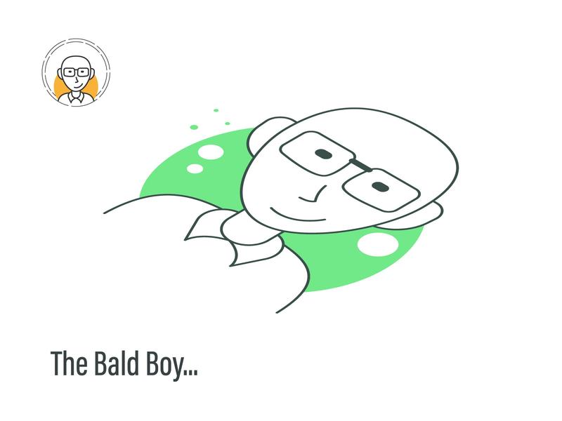 The Bald Boy man boy yellow green illustration avatar