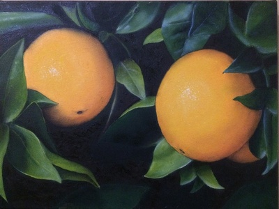 Orange Oil Painting