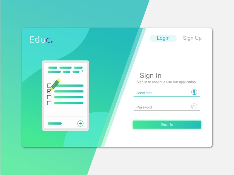 Educ Sign In Page