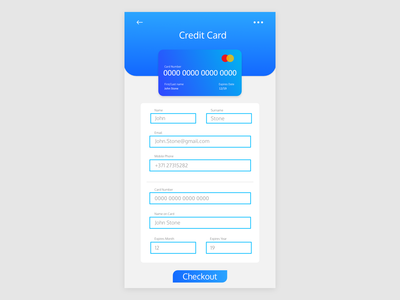 DailyUI Challenge - Credit Card Checkout