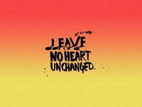 leave no heart.