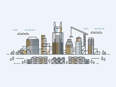Nashville Skyline Illustration