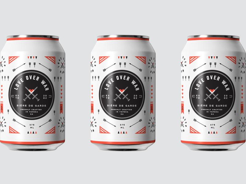Love Over War Beer Packaging