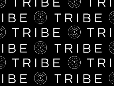 Tribe Logo Pattern black studio production company film brand identity logo design identity typography logo type set seal mark logo icon graphic design geometric design branding brand