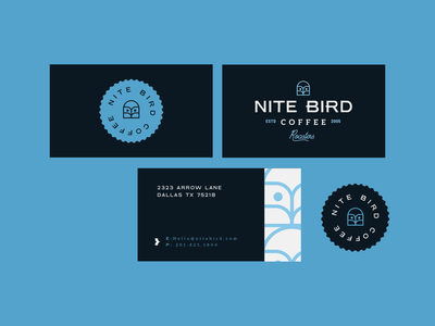 Nitebird Business Card flat illustration business card pattern owl brand identity logo design identity typography logo type set seal mark logo icon graphic design geometric design branding brand