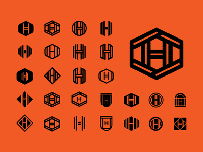 H Logos black flat 36daysoftype brand identity logo design identity typography logo type set seal mark logo icon graphic design geometric design branding brand