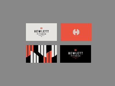 Hewlett Fitness Gym Business Cards flat badge pattern black red business card brand identity logo design identity typography logo type seal mark logo icon graphic design geometric design branding brand