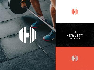 Hewlett Fitness Peronal Trainer Logo red personal trainer trainer workout gym fitness brand identity logo design identity typography logo type seal mark logo icon graphic design geometric design branding brand