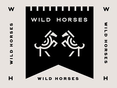 Wild Horses Icons pattern dallas logo designer flat banner black horse logo design identity typography logo type seal mark logo icon graphic design geometric design branding brand