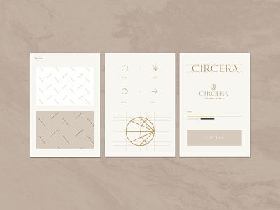 Circera Brandguide cbd style guide luxury beauty organic hemp brand identity logo design identity typography logo type set seal mark logo graphic design geometric design branding brand