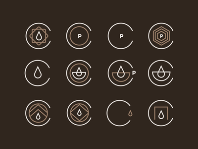 Coffeeshop Logo Marks flat black coffeeshop coffee brand identity logo design identity typography logo type set seal mark logo icon graphic design geometric design branding brand