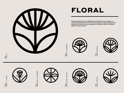 SY Flower Marks portland floral flower brand identity logo design identity typography logo type set seal mark logo icon graphic design geometric design branding brand
