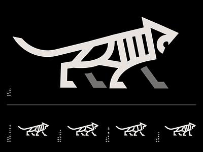 Tiger Icon black animal minimal cat tiger brand identity logo design identity typography logo type set seal mark logo icon graphic design geometric design branding brand