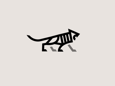 Wild Cat Icon tiger animal minimal gif cat brand identity logo design identity typography logo type set seal mark logo icon graphic design geometric design branding brand