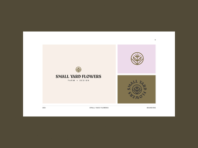 SYF Concepts sustainable garden farm portland floral flower brand identity