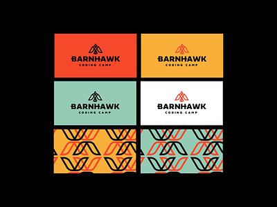 Barnhawk Logo Business Card Design camp coding bird brand identity