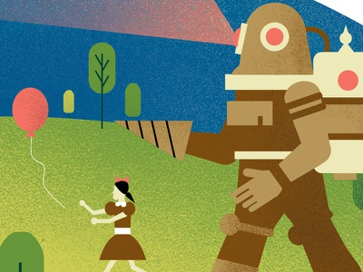 Bioshock Illustration #Rosie2 simple geometric freelance graphic design illustrator illustration design videogames bioshock