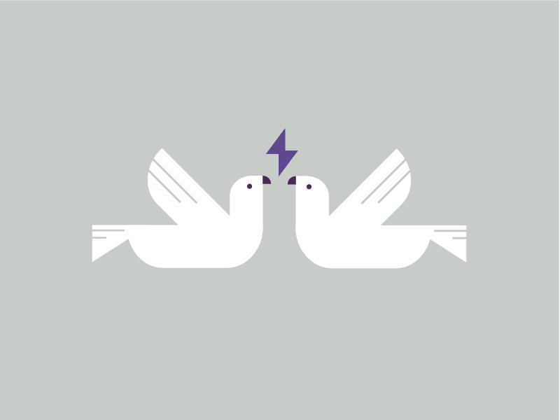 Purple Lightning illustrator adobe illustration harper minimal swiss purple bolt lightning prince