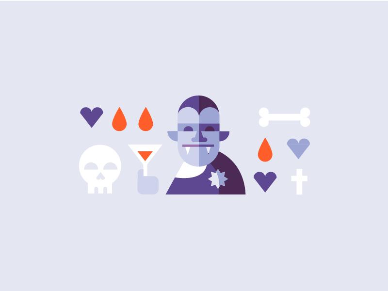 Vampire heart martini cross illustration illustrator art director graphic designer skull bones blood monster vampire