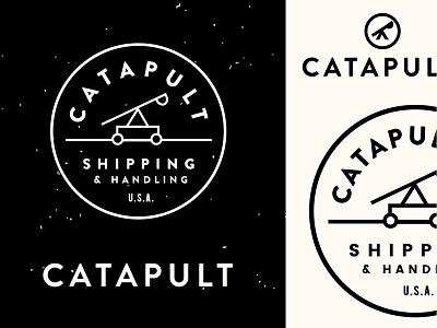 Catapult stamp seal typography art director branding identity mark type catapult logo