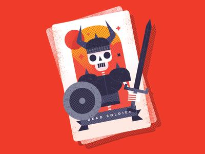 Skeleton Tarot Card