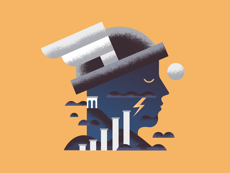 Magic Hat cloud column moon sky mercury god greek helmet wing hat magic hermes