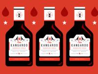 Angry Kangaroo BBQ Sauce Bottles
