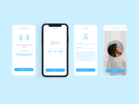 Surfboard App Login Screens