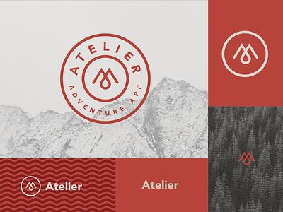 Atelier Branding #2 mountain pattern logo a day tree hike illustration ux ui app design mark icon geometric type branding typography graphic design logo