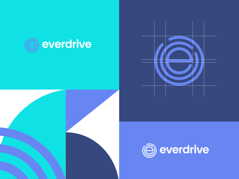 Everdrive 36daysoftype app typogaphy seal e minimal mark logo design logo icon graphic design geometric flat design idenity branding brand blue art 36 days of type