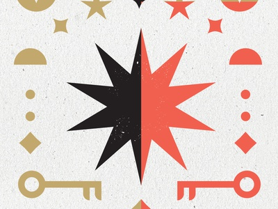 Star design vector branding pattern minimal art illustrator flat red gold black star key seal mark icon geometric graphic design logo illustration