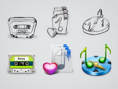 Music App Icons cassette radio iphone app music casette