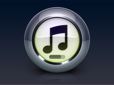 iTunes 10 itunes glossy icon photoshop