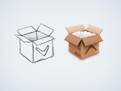 Icon cardboard box photoshop